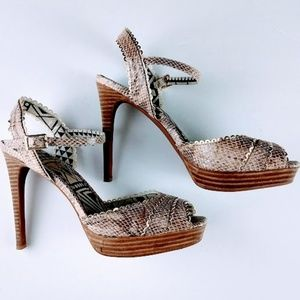 Jessica Simpson Blazie Stacked Heels Sandals 8